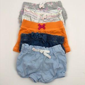Cat & Jack, Carter's Baby Girl Shorts Blue 3-6 mo